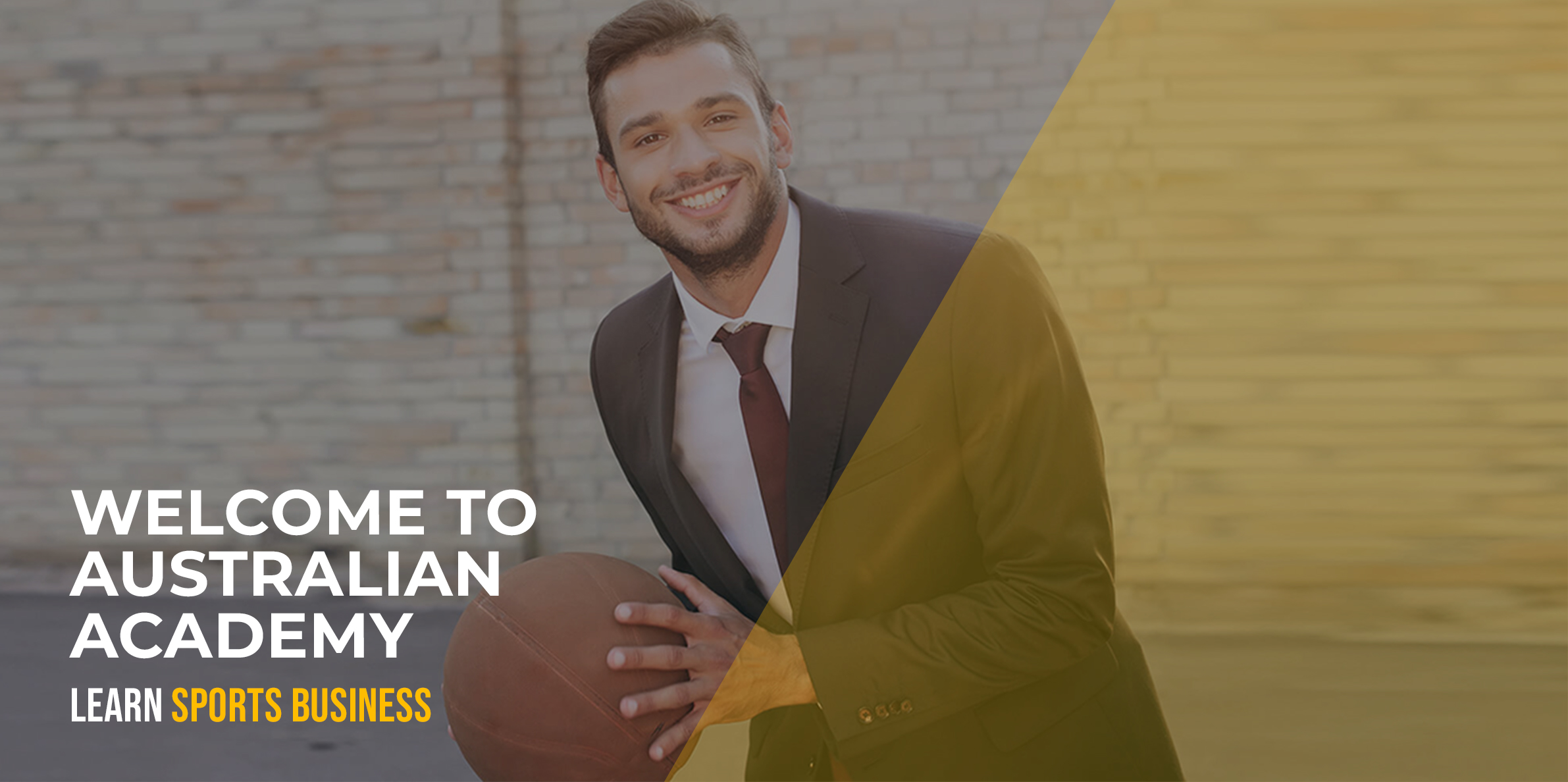Man in suit with basketball